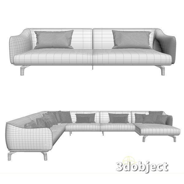 3d модель дивана Giorgetti Drive_5