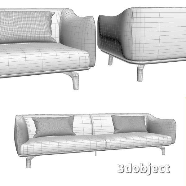 3d модель дивана Giorgetti Drive_6