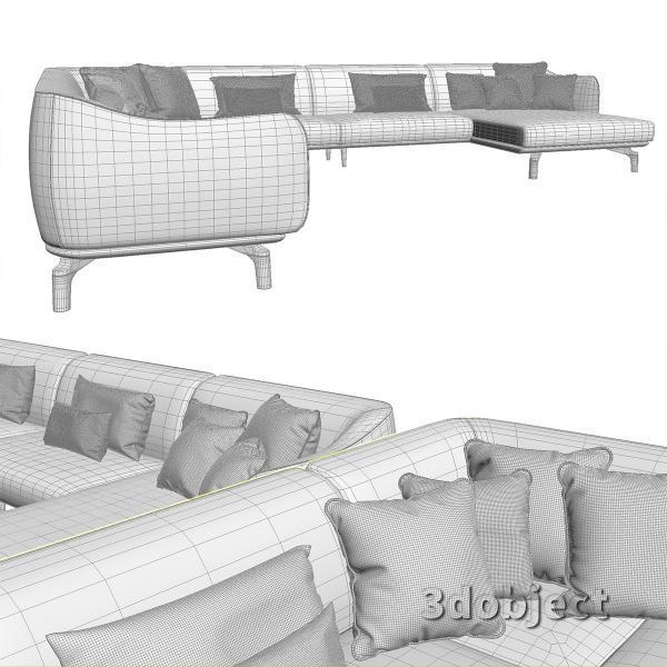 3d модель дивана Giorgetti Drive_7