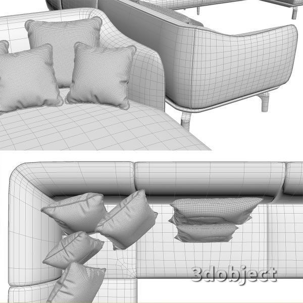 3d модель дивана Giorgetti Drive_8