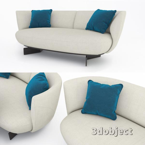 3d модель дивана Giorgetti Galet_3