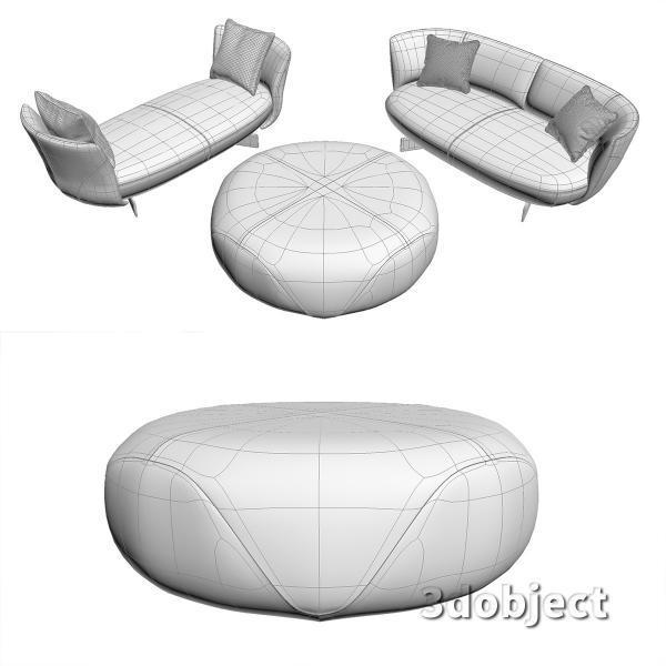 3d модель дивана Giorgetti Galet_4
