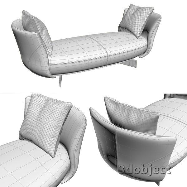 3d модель дивана Giorgetti Galet_5