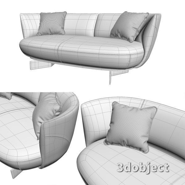 3d модель дивана Giorgetti Galet_6