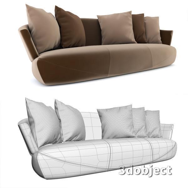3d модель дивана Giorgetti Solemyidae_4
