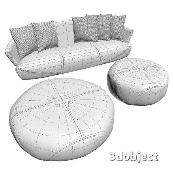 3d модель дивана Giorgetti Solemyidae_5