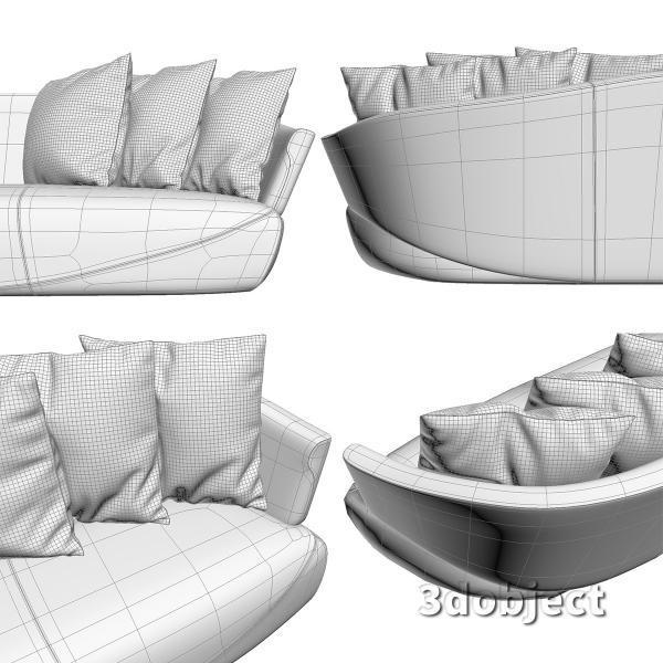 3d модель дивана Giorgetti Solemyidae_7