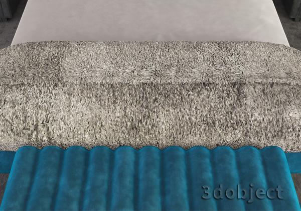 Меховое покрывало из сплайнов в 3d max (Hair and Fur)