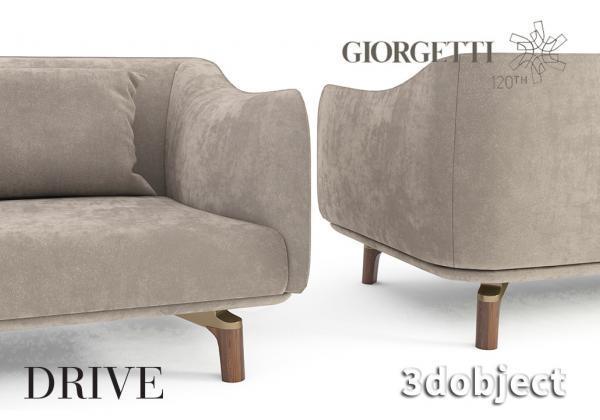 3d моделирование дивана Giorgetti Drive в 3dsMax
