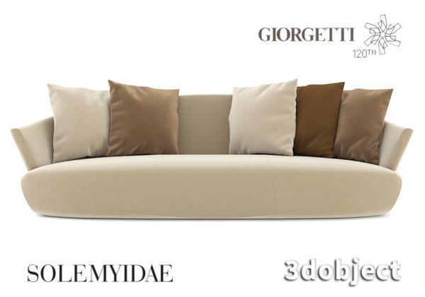 Моделирование дивана Giorgetti Solemyidae в 3d max