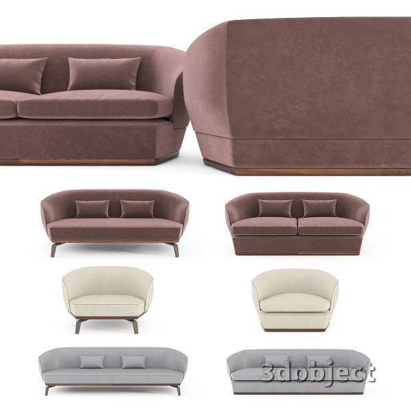 3d модель дивана Giorgetti Tamino_1
