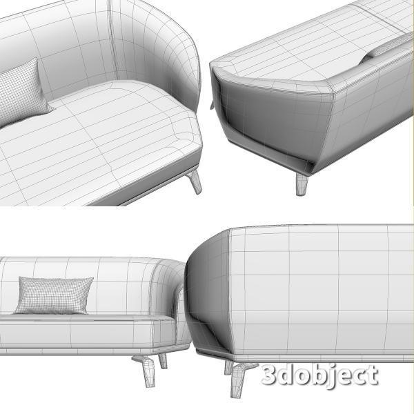 3d модель дивана Giorgetti Tamino_11