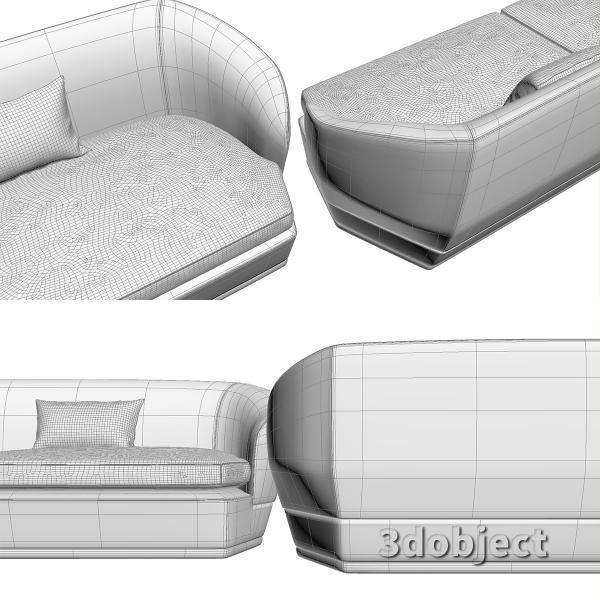 3d модель дивана Giorgetti Tamino_12