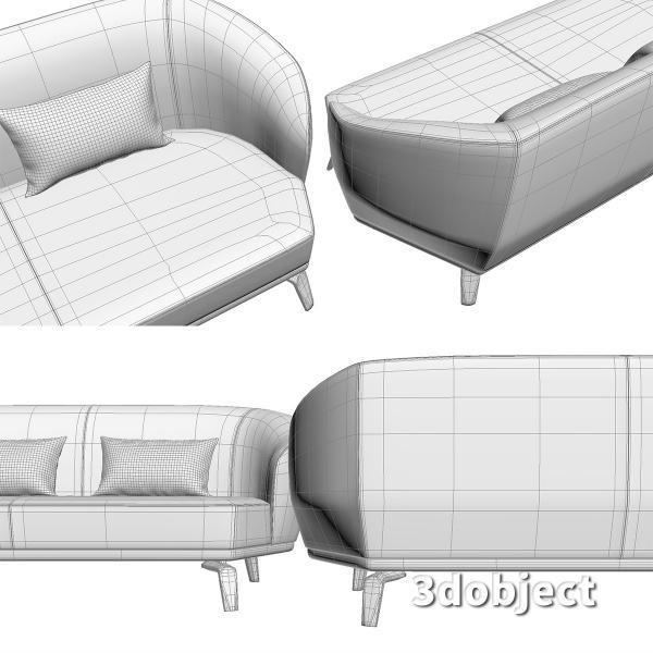 3d модель дивана Giorgetti Tamino_13