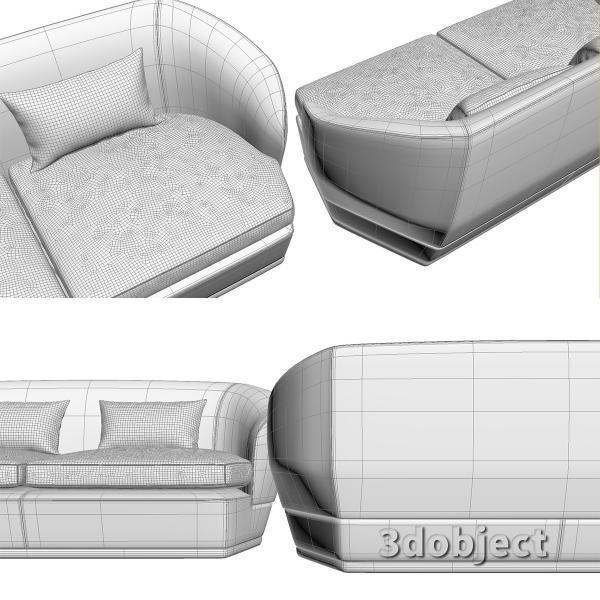 3d модель дивана Giorgetti Tamino_14