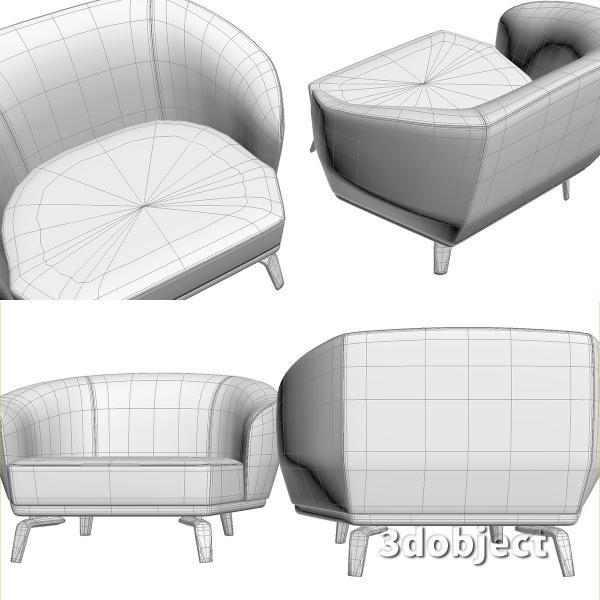 3d модель дивана Giorgetti Tamino_15
