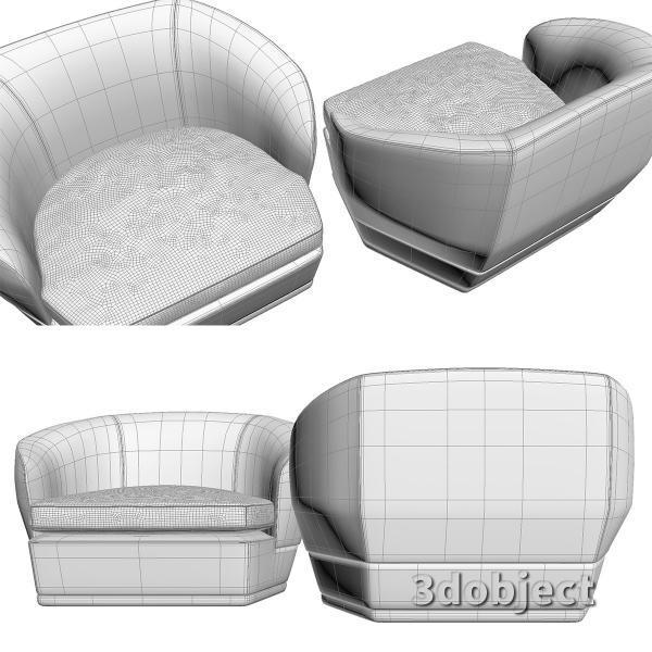 3d модель дивана Giorgetti Tamino_16