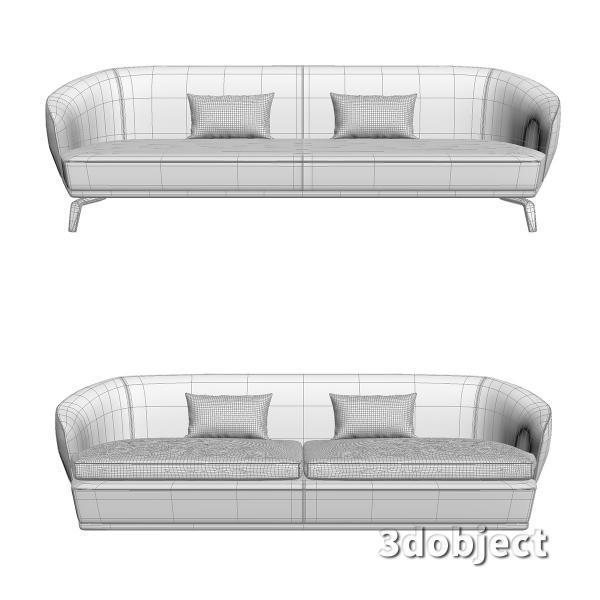 3d модель дивана Giorgetti Tamino_17