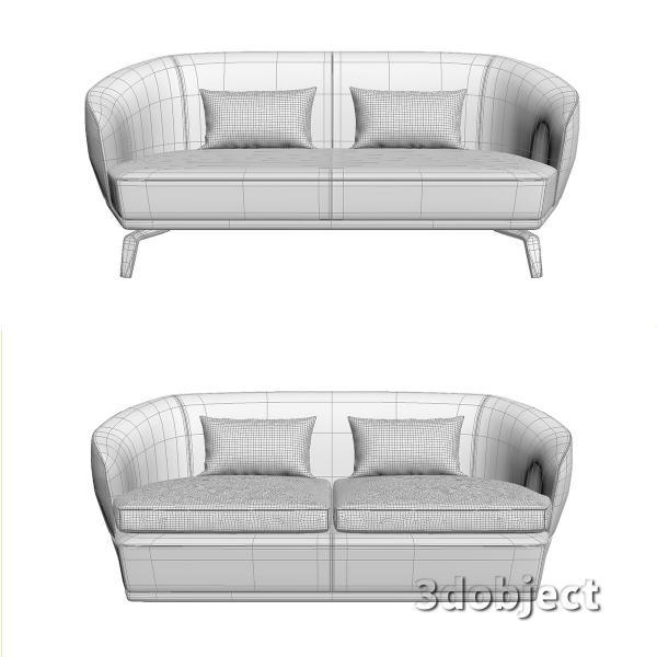 3d модель дивана Giorgetti Tamino_18