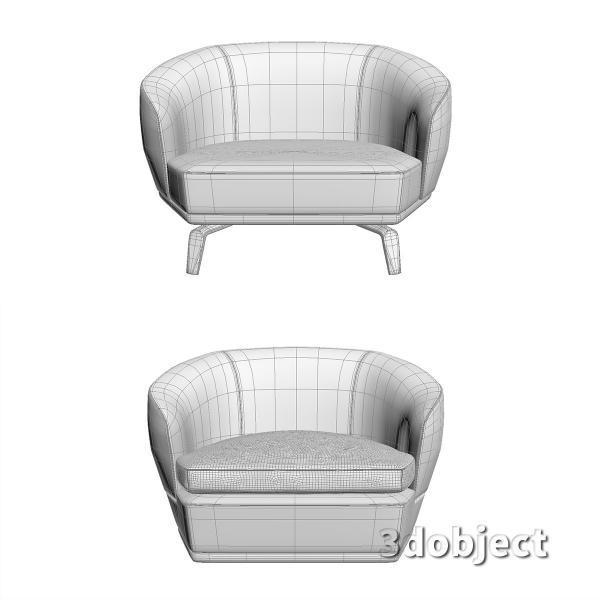 3d модель дивана Giorgetti Tamino_19