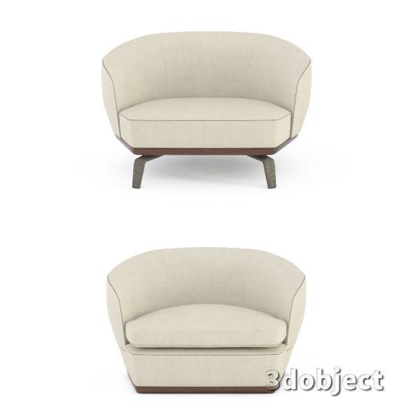 3d модель дивана Giorgetti Tamino_3