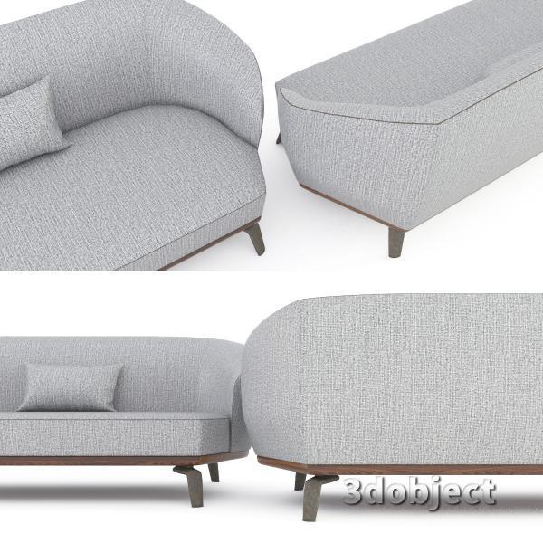 3d модель дивана Giorgetti Tamino_6