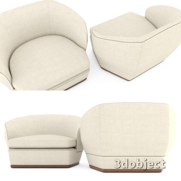 3d модель дивана Giorgetti Tamino_7