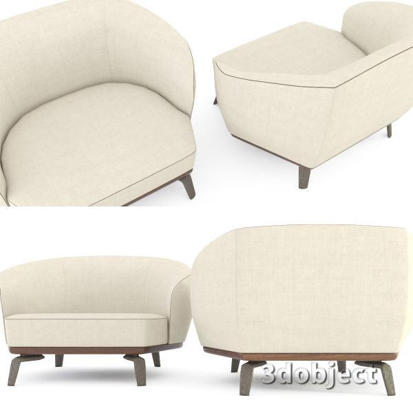 3d модель дивана Giorgetti Tamino_8