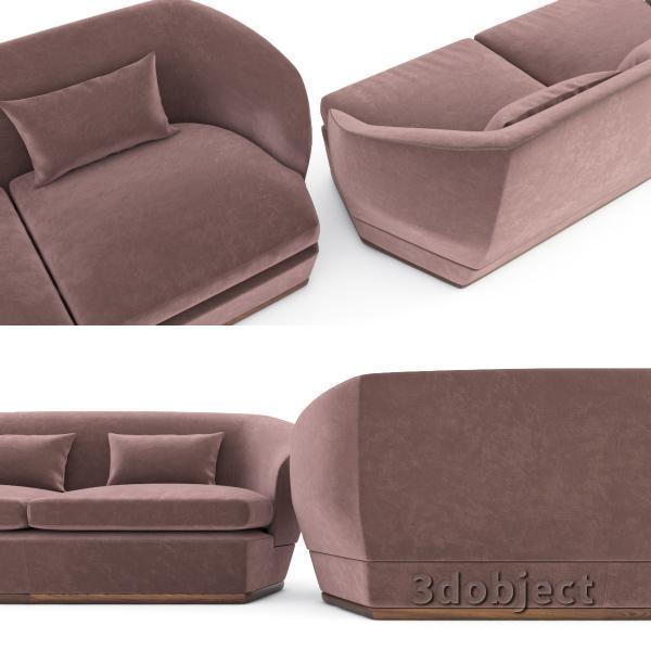 3d модель дивана Giorgetti Tamino_9