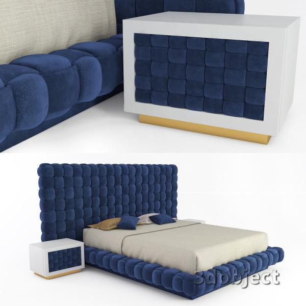 3d модель кровати Ludovica Mascheroni Intrigo_1