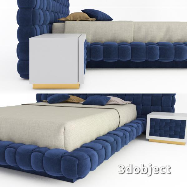 3d модель кровати Ludovica Mascheroni Intrigo_3