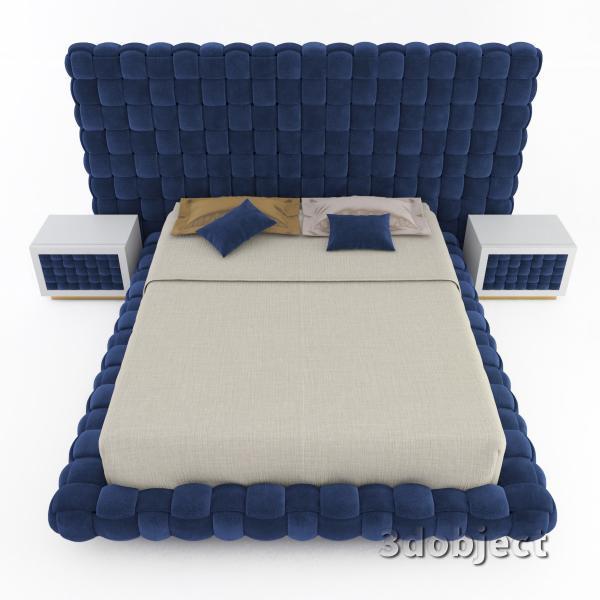 3d модель кровати Ludovica Mascheroni Intrigo_4