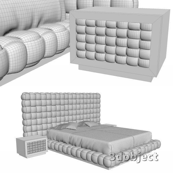 3d модель кровати Ludovica Mascheroni Intrigo_5