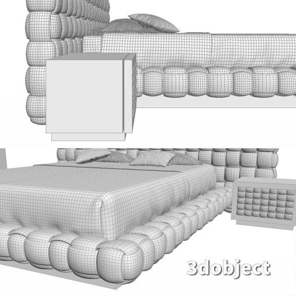3d модель кровати Ludovica Mascheroni Intrigo_7