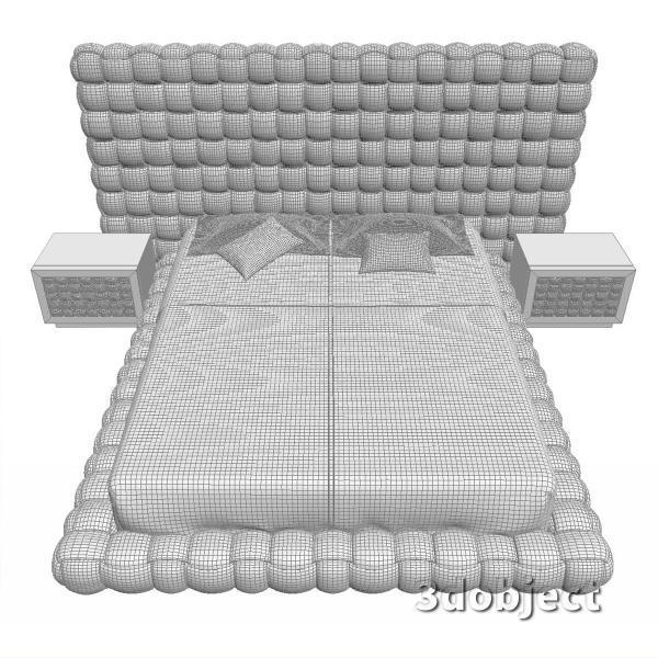 3d модель кровати Ludovica Mascheroni Intrigo_8