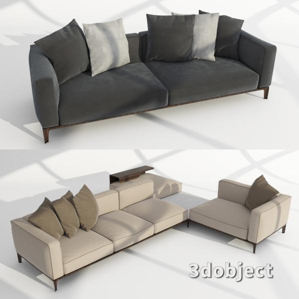 3d модель дивана Giorgetti Aton sofa_1