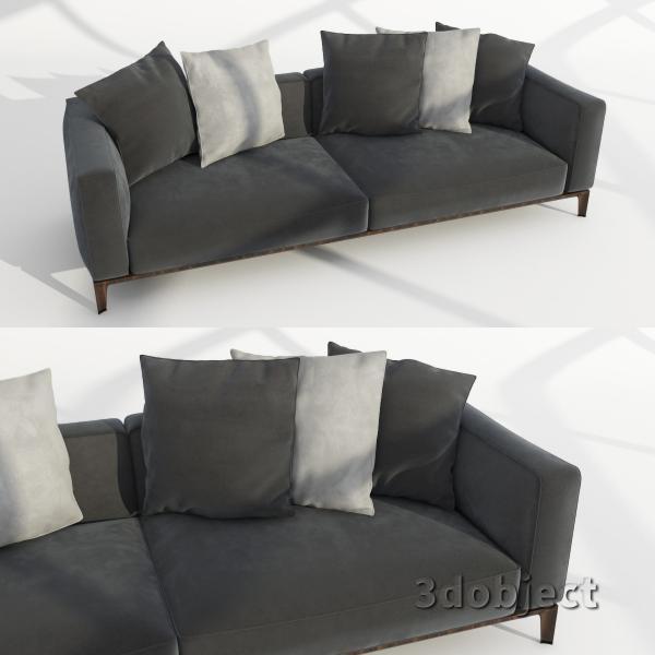 3d модель дивана Giorgetti Aton sofa_2