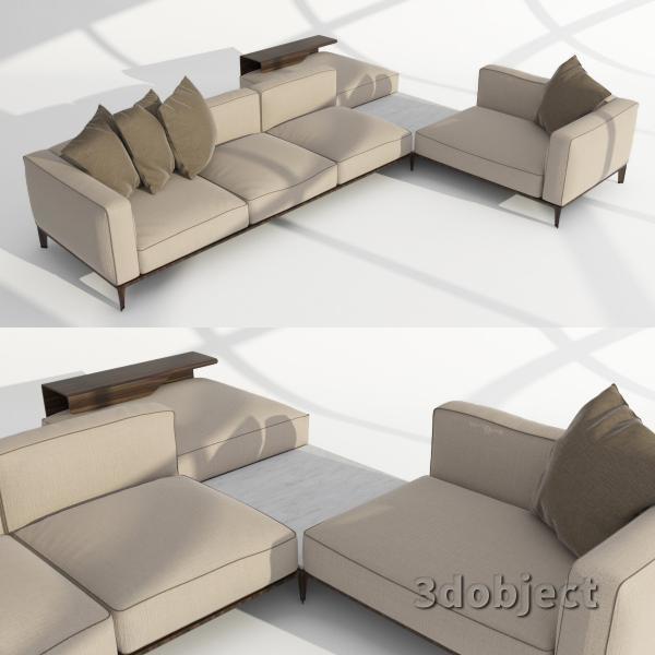 3d модель дивана Giorgetti Aton sofa_3