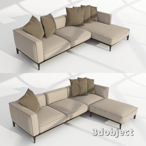 3d модель дивана Giorgetti Aton sofa_4