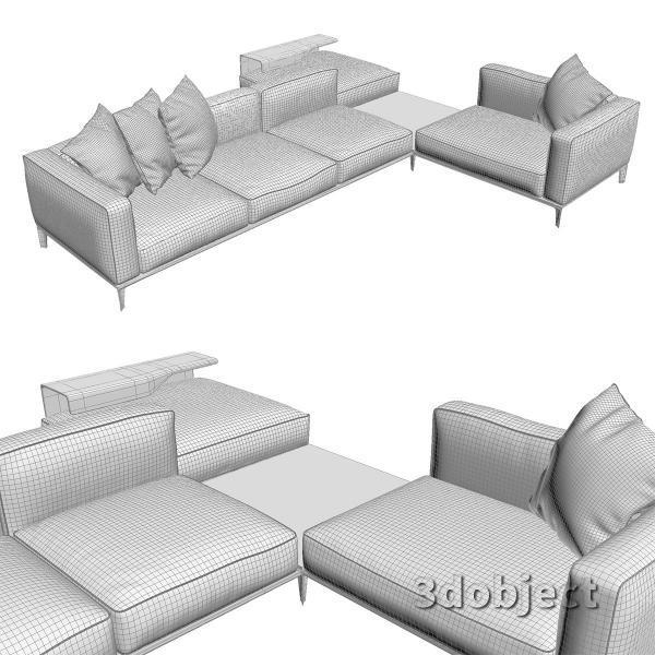 3d модель дивана Giorgetti Aton sofa_7