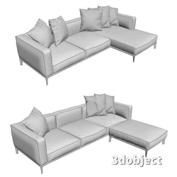 3d модель дивана Giorgetti Aton sofa_8