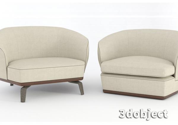 Моделирование дивана Giorgetti Tamino в 3dsMax