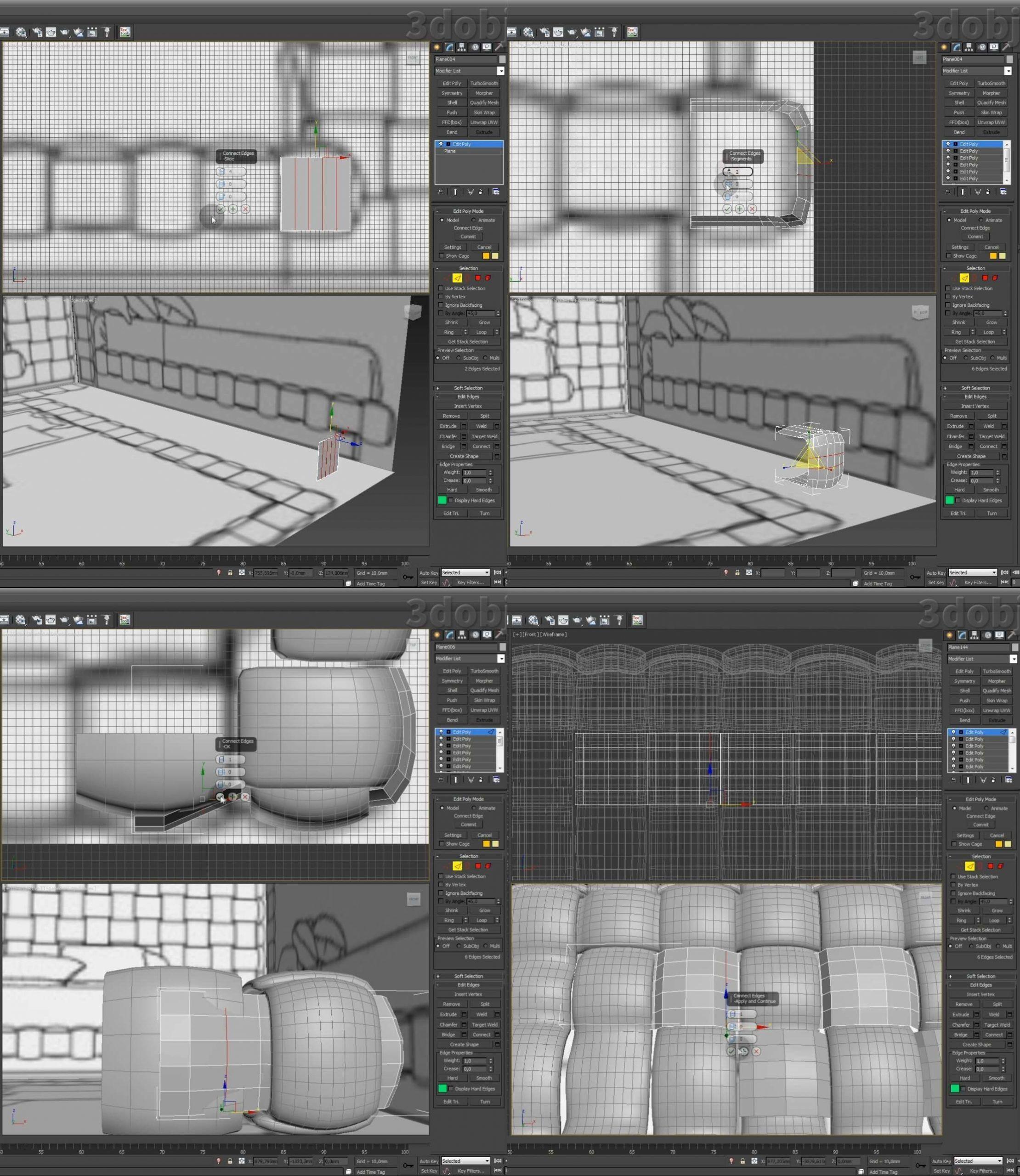 Моделирование кровати Ludovica Mascheroni Intrigo в 3d max_1