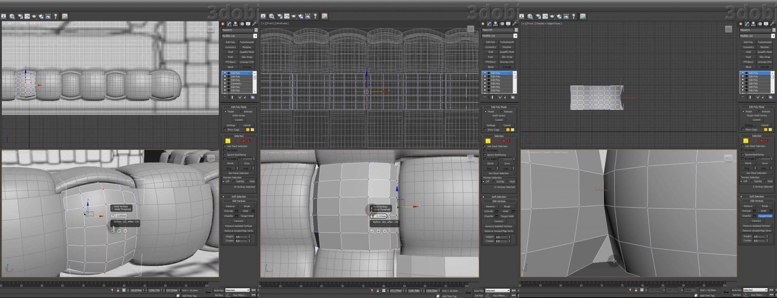 Моделирование кровати Ludovica Mascheroni Intrigo в 3d max_2