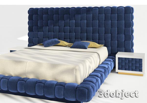 Моделирование кровати Ludovica Mascheroni Intrigo в 3d max