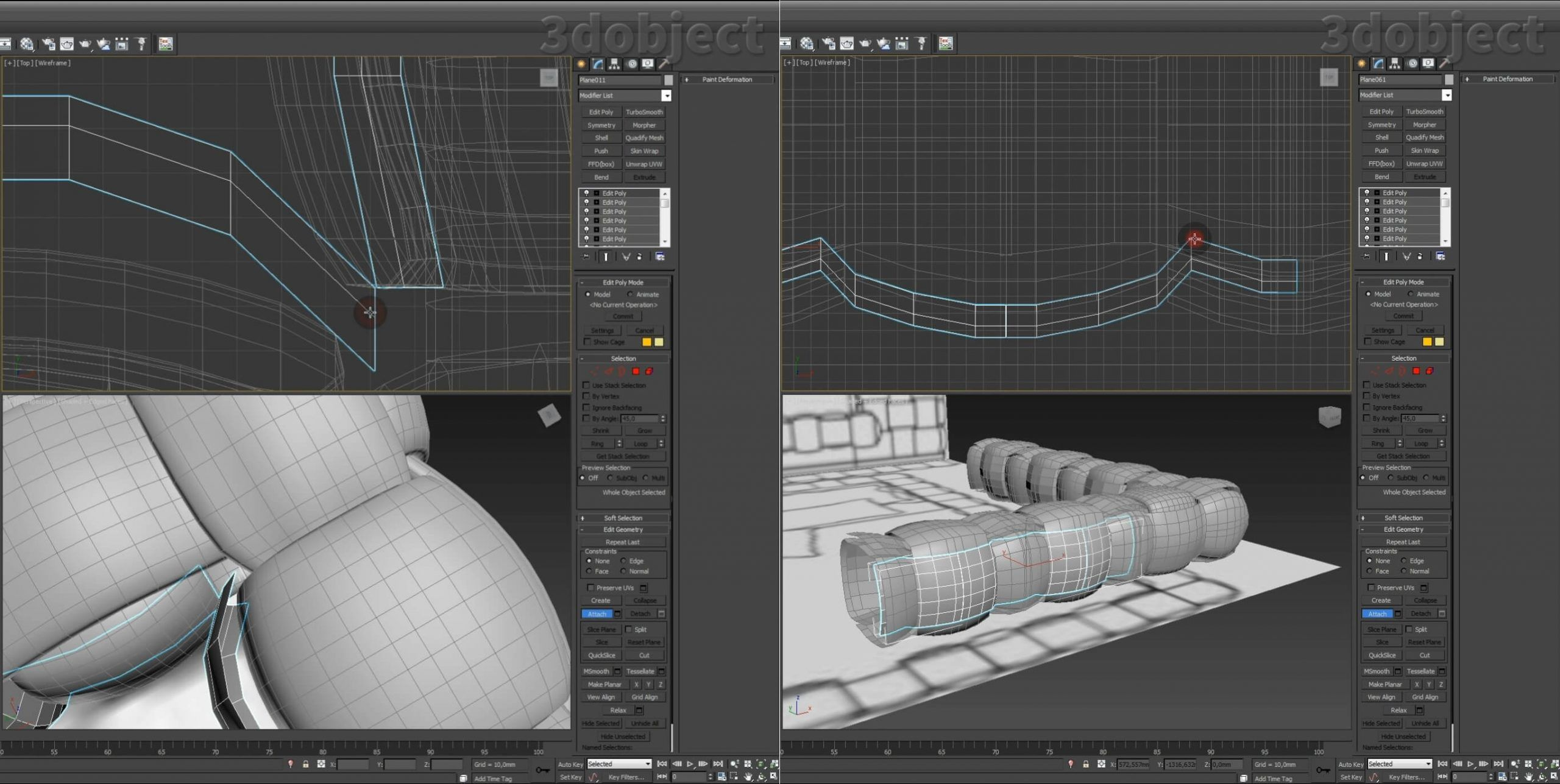 Моделирование кровати Ludovica Mascheroni Intrigo в 3d max_4