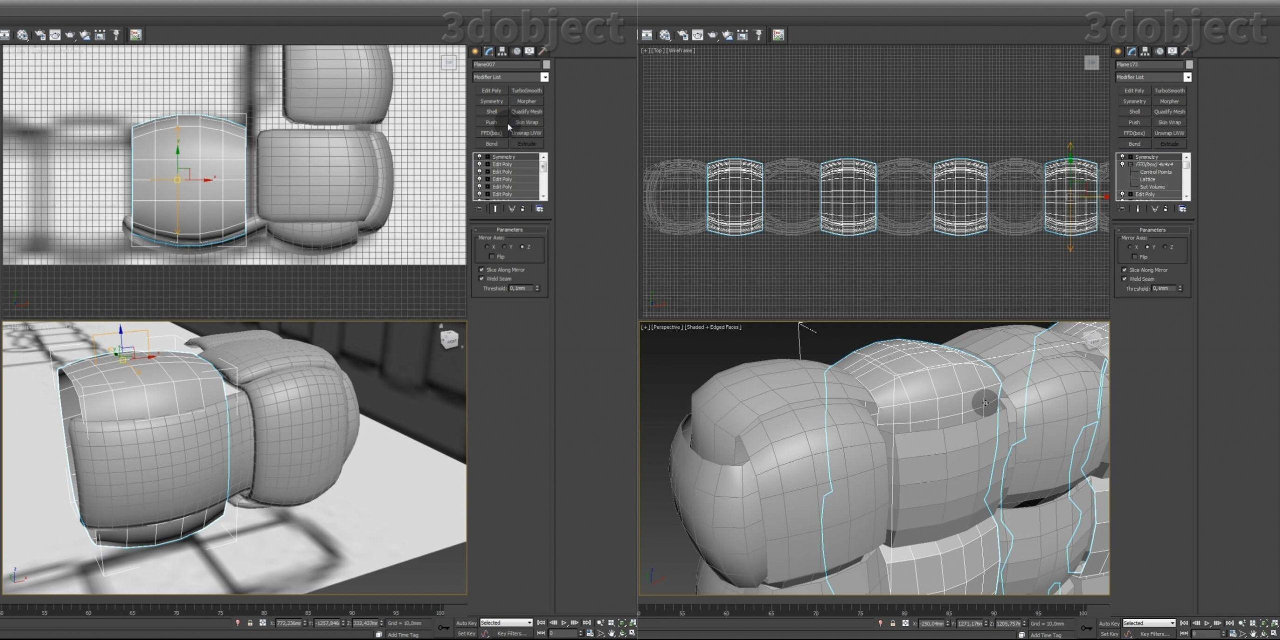 Моделирование кровати Ludovica Mascheroni Intrigo в 3d max_5
