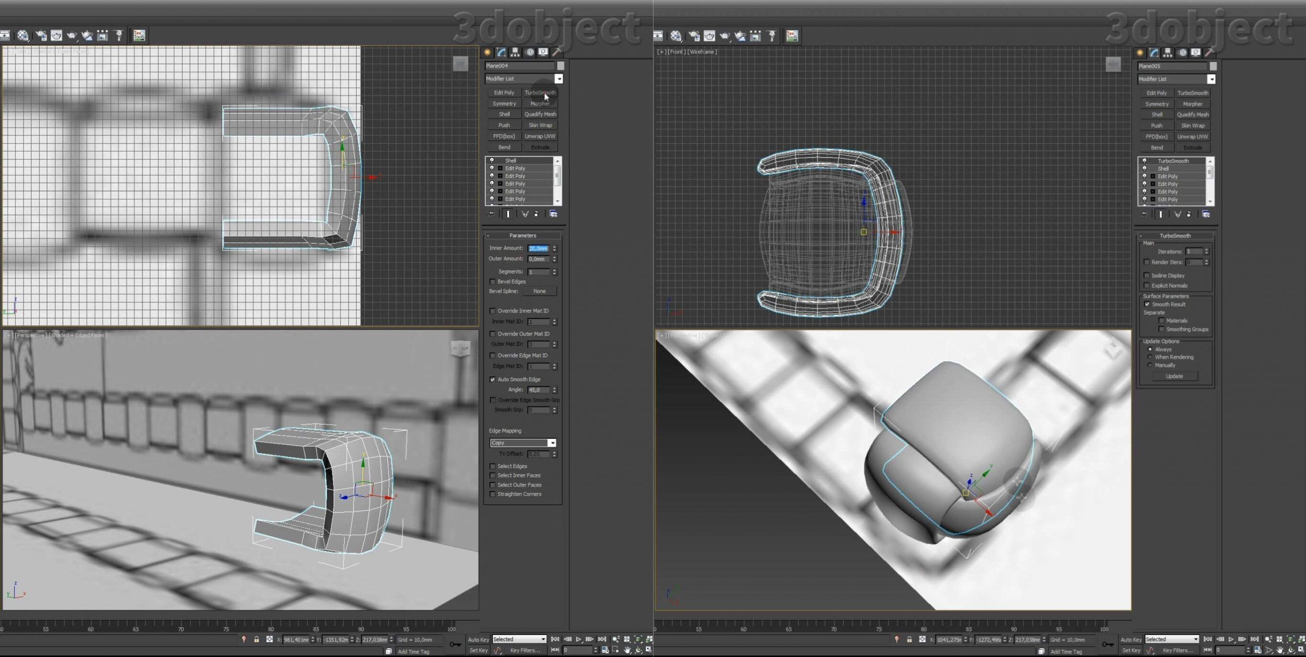 Моделирование кровати Ludovica Mascheroni Intrigo в 3d max_6