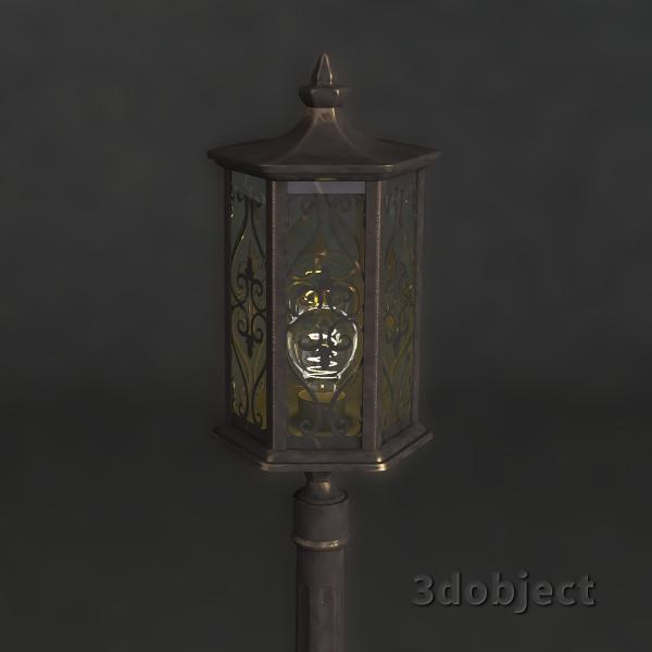 3d модель фонарного столба Maytoni_1