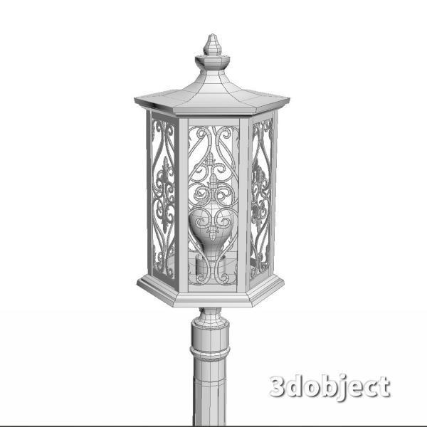 3d модель фонарного столба Maytoni_4